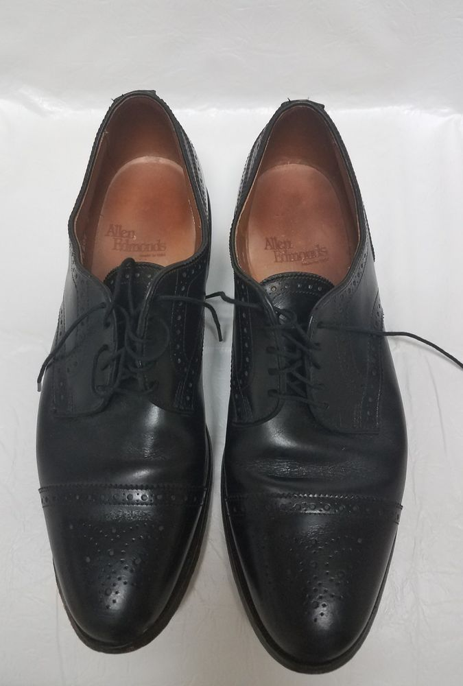 eb1acb346dab Allen Edmonds Oxfords Sanford 10B Mens Captoe Shoes Black Leather Lace Ups  5207  AllenEdmonds  Oxfords