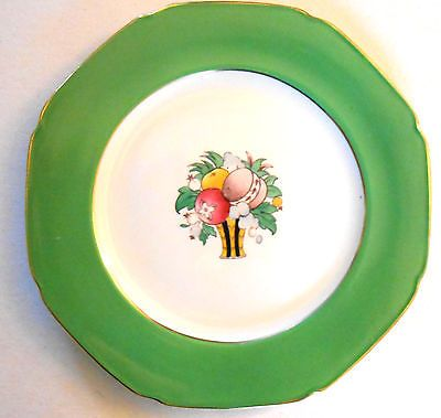 Explore Plate Art Dinner Plates and more!  sc 1 st  Pinterest & F #winkle whieldon ware rutland 1 x green china #dinner #plates art ...