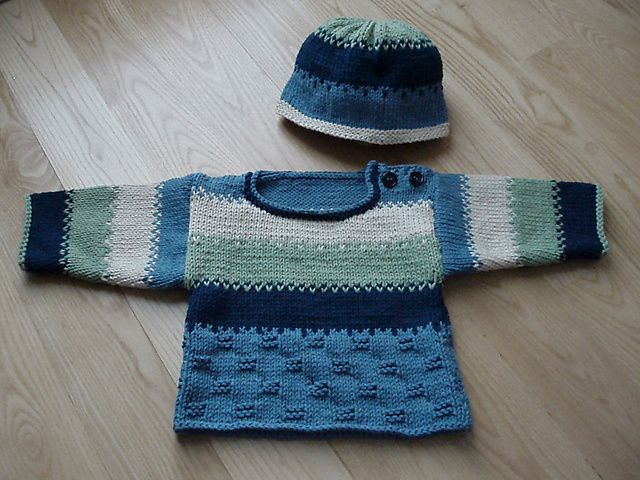 Ravelry: Striped Baby Set pattern by Sandi Prosser | Knitting for ...