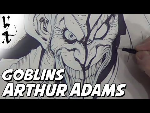 Arthur Adams drawing Green Goblin / Hobgoblin - YouTube