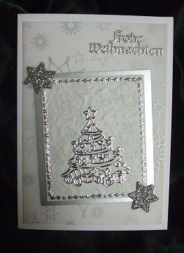 Edle Weihnachtskarten Basteln.Edle Einfache Weihnachtskarte Selst Gemacht Mit Transparentpapier