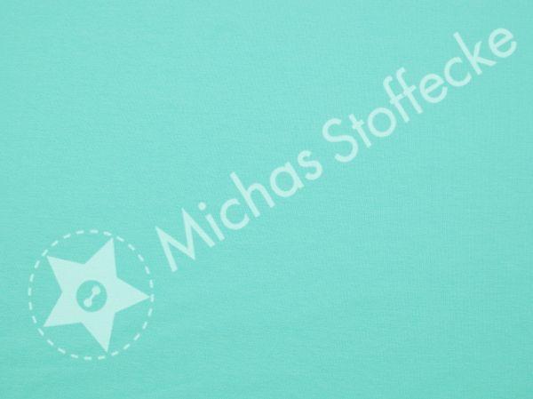 Michas Stoffecke - Stretch-Sweat Uni helleres türkis U1-EU-SSw-S-033-EV