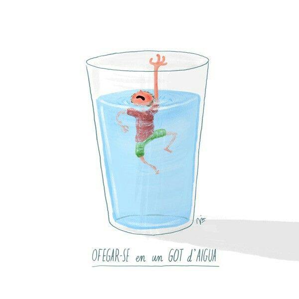 Ahogarse En Un Vaso De Agua Vaso De Agua Ahogarse Vaso