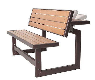 Folding Picnic Table Bench Flip Top Convertible Garden