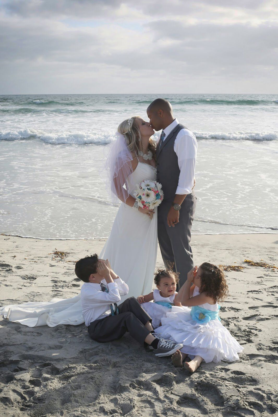 Beach Wedding Wedding With Kids Instant Family With Images