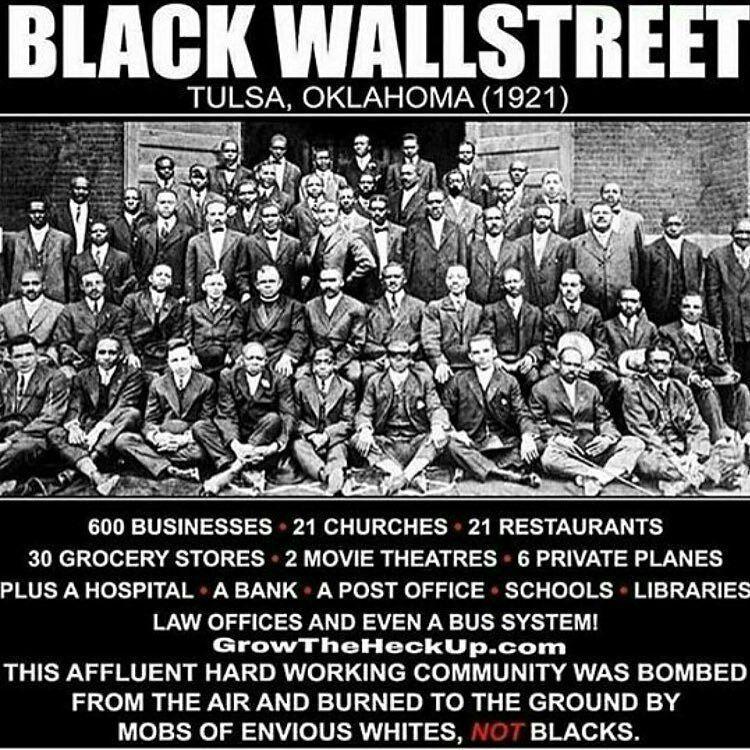 Black Wall Street Tulsa Oklahoma American History Facts History