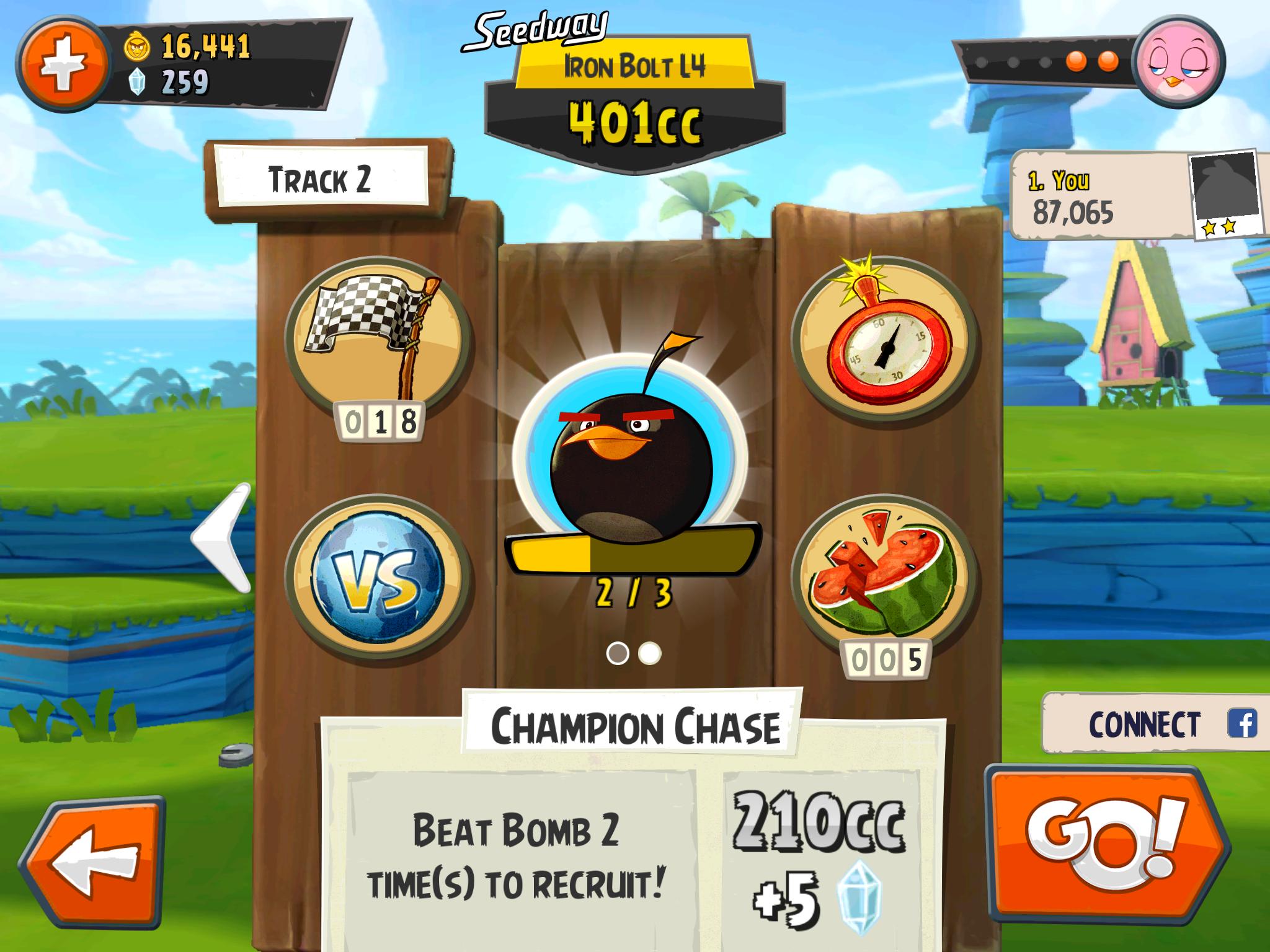 Bomb Race Angry Birds Go
