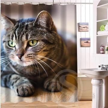 Cats Cat Kitty Kitten Design Shower Curtain Showercurtain Bathroom Home House Bath Cat Shower Curtain Fabric Shower Curtains Custom Shower Curtains