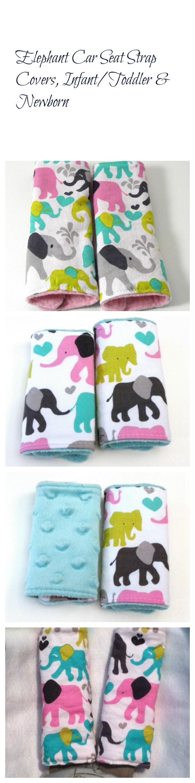 Elephant Baby Shower Gift, Car Seat Strap Cover, Safari Nursery ...