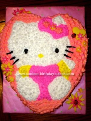 Homemade Hello Kitty Cake My friend asked me to make a Hello