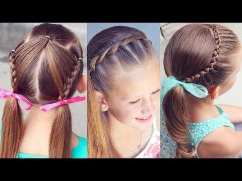 YouTube diy hair Pinterest Peinados fáciles para niños