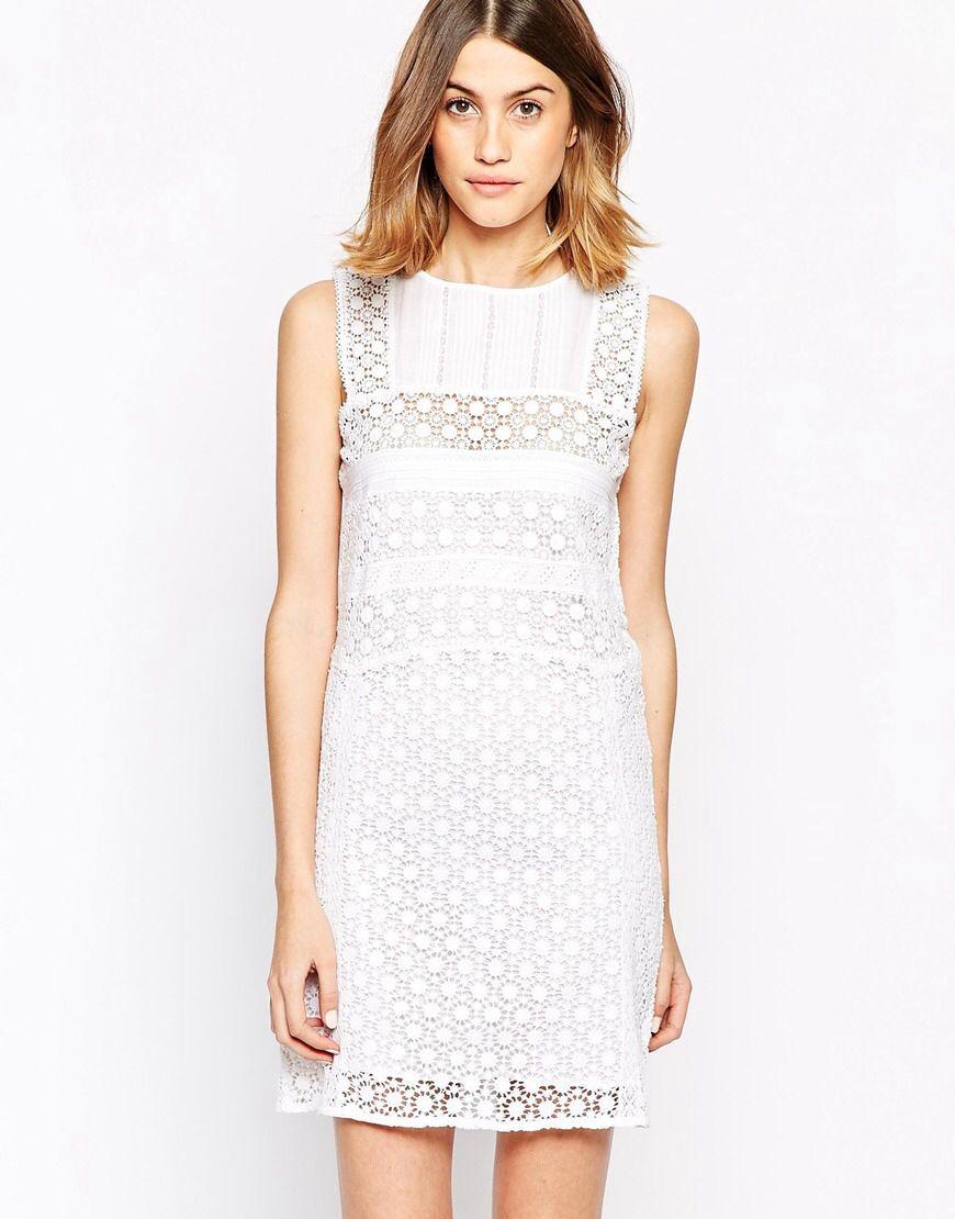 52d20aec50ab3b6 Цельнокройное платье с вышивкой ришелье Vanessa Bruno Athe | ПЛАТЬЯ ...