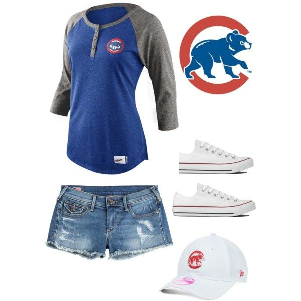 Cute Chicago Cubs outfit by m-loconte on Polyvore featuring ...