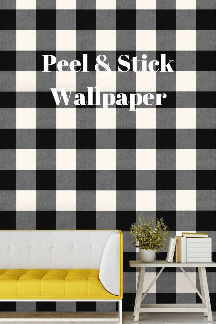 Devine Color Buffalo Plaid Peel Stick Wallpaper Black And Lightning Ad