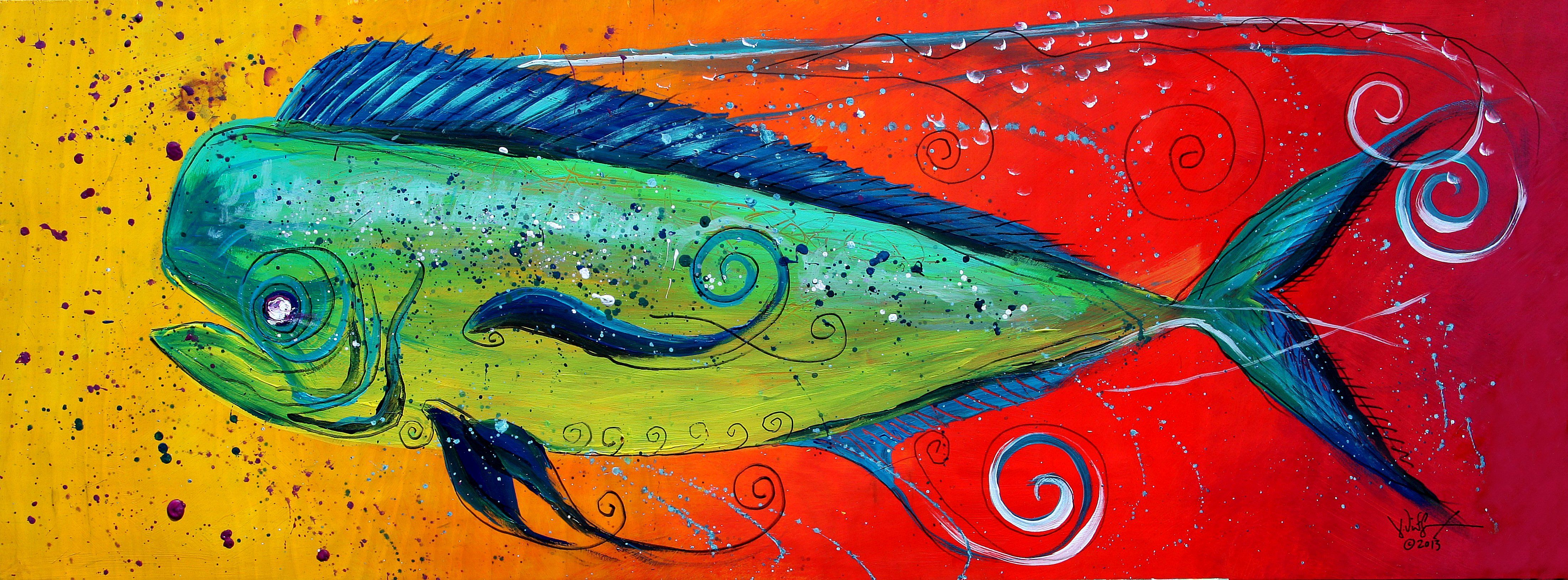 "Abstract Mahi Mahi"" (2013) by J. Vincent Scarpace 