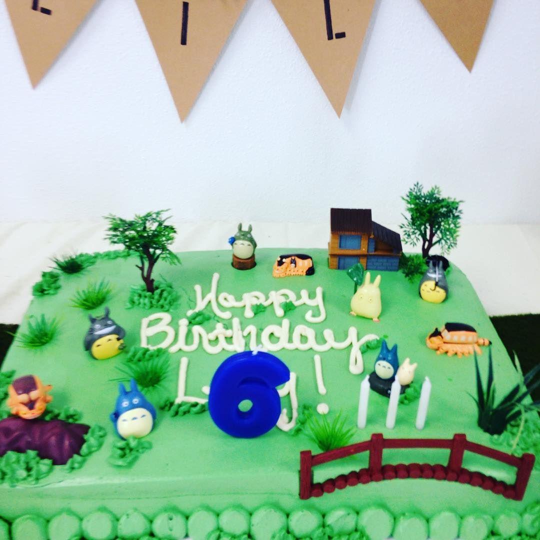 Glutenfree Totoro cake made by Mermaids Bakery in Denver CO