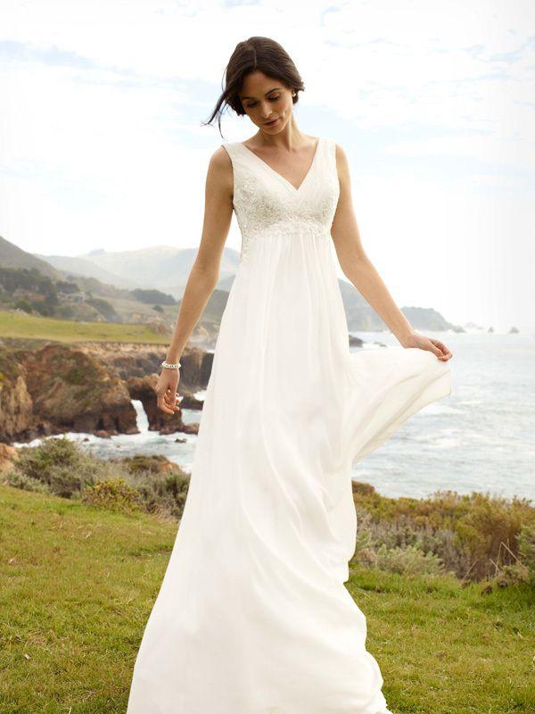 Perfect Simple boho dress from david us bridal