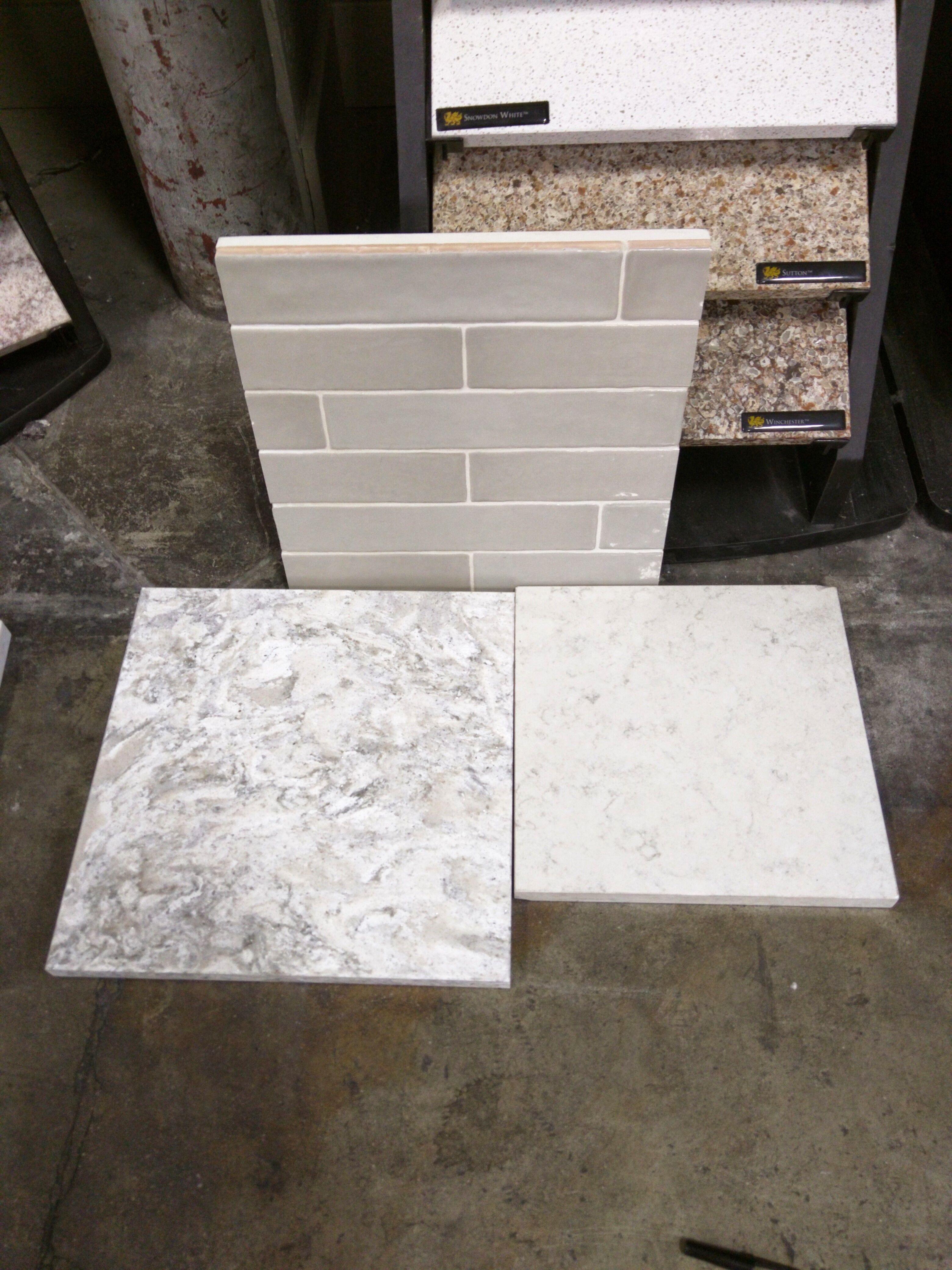 Berwyn Cambria Kitchen: Agora Piastrella Sage Ceramic Backsplash, And Cabria