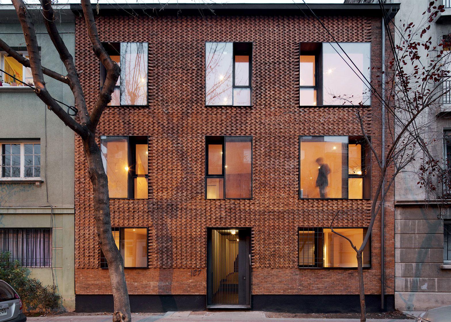 MAPA updates Chilean housing block with textured brick