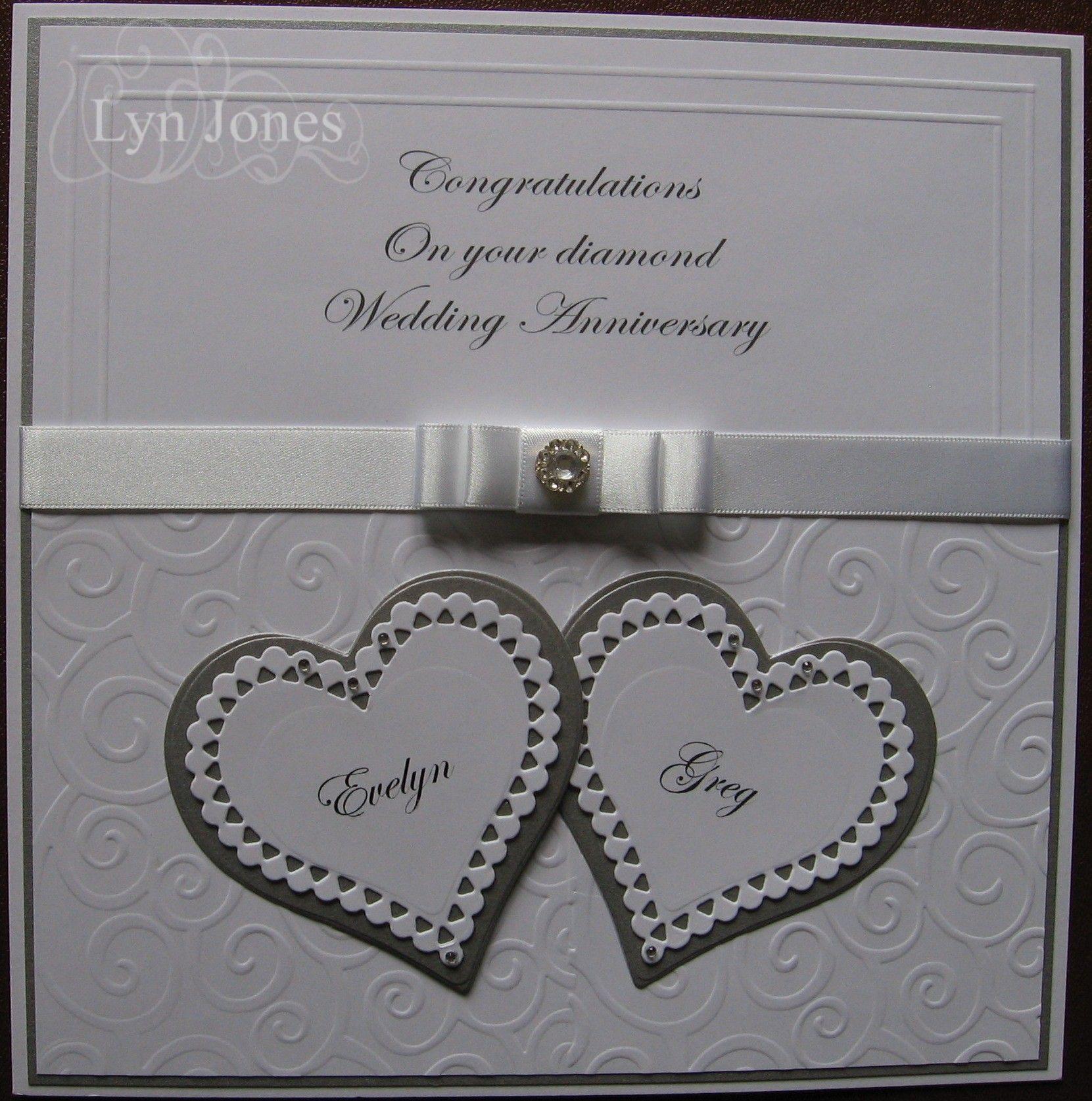 Diamond Wedding Anniversary card Diamond Wedding Anniversary