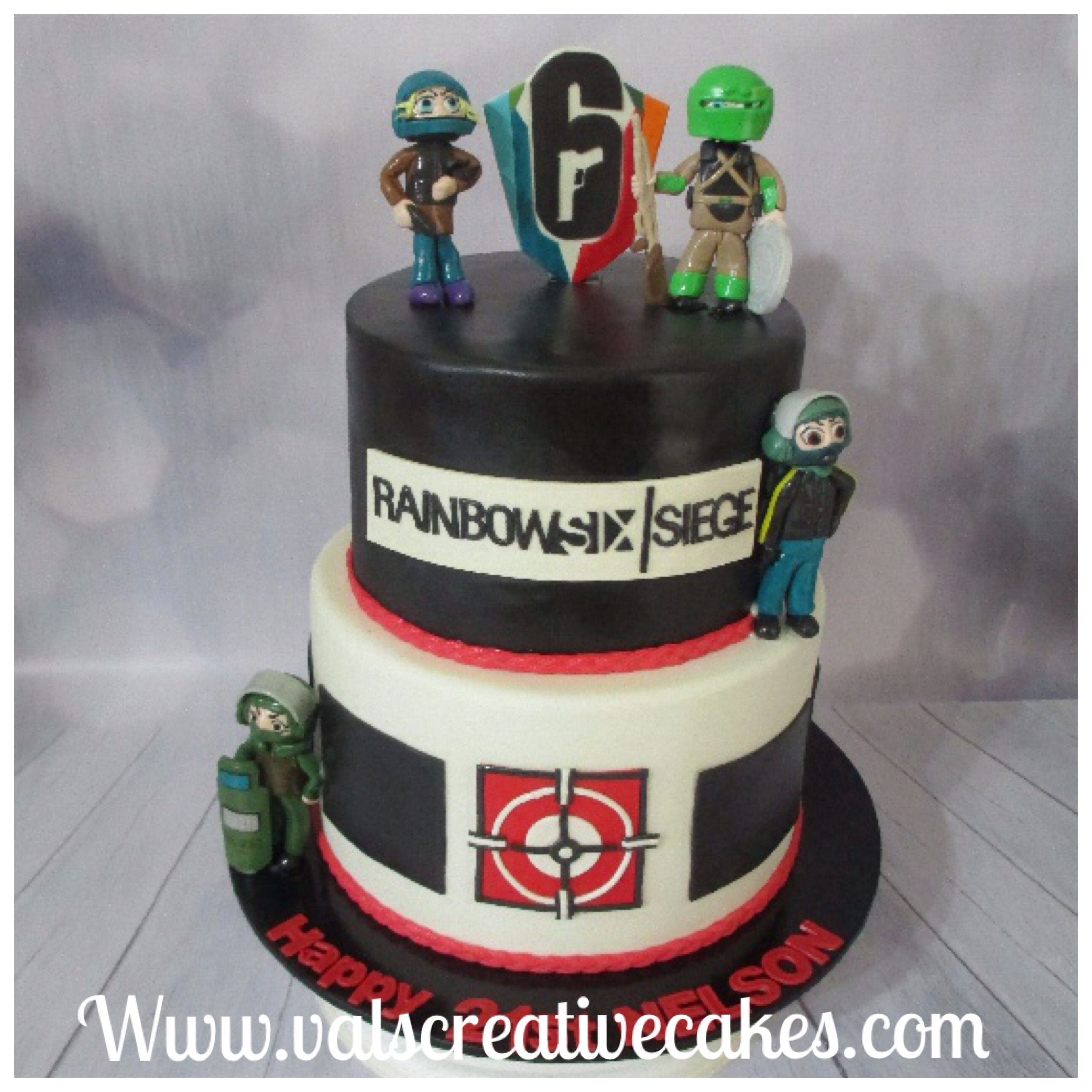 Rainbow six siege birthday cake Birthday cake gallery