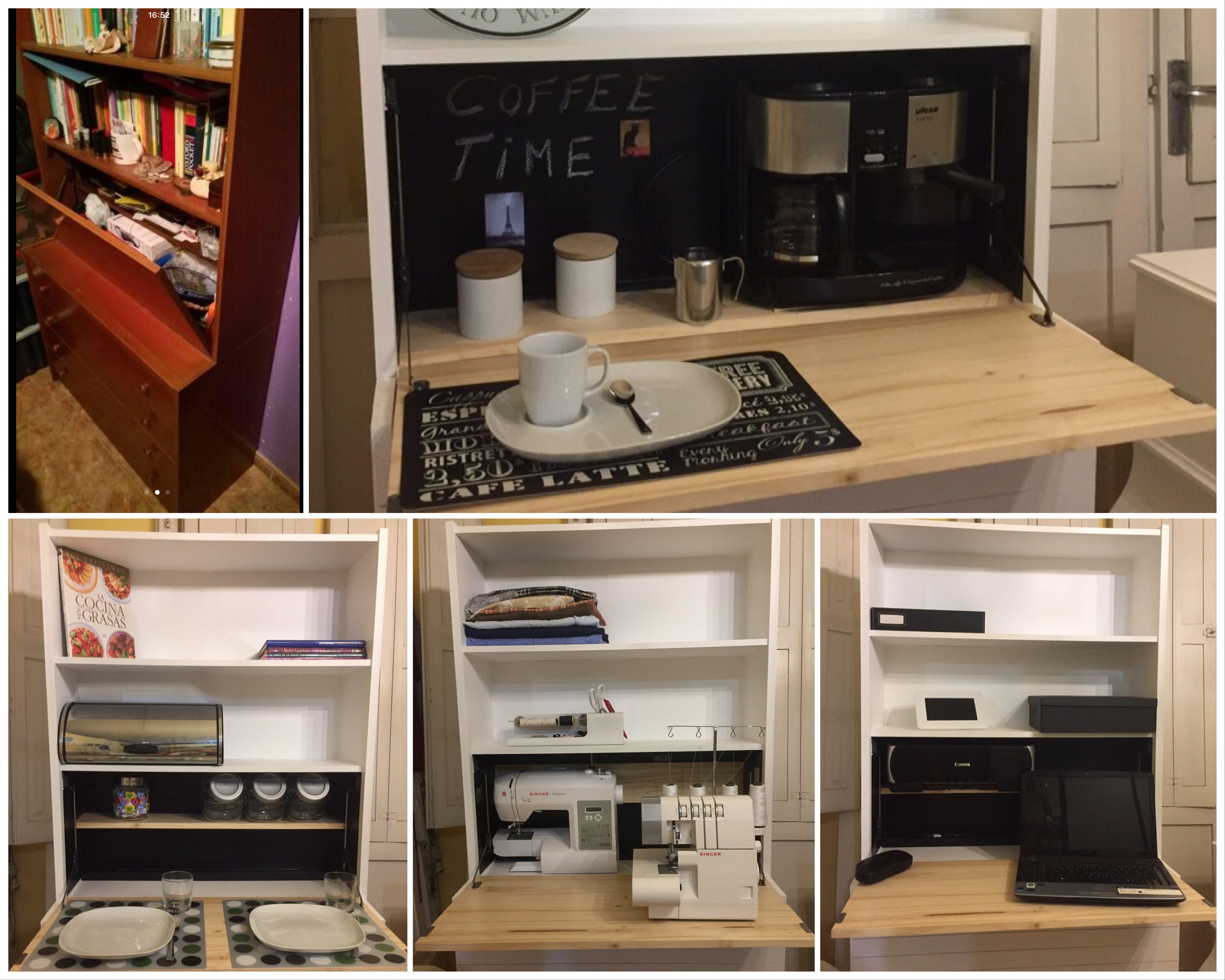 De estantería sencilla a bonito mueble multiusos. Lacada en blanco ...