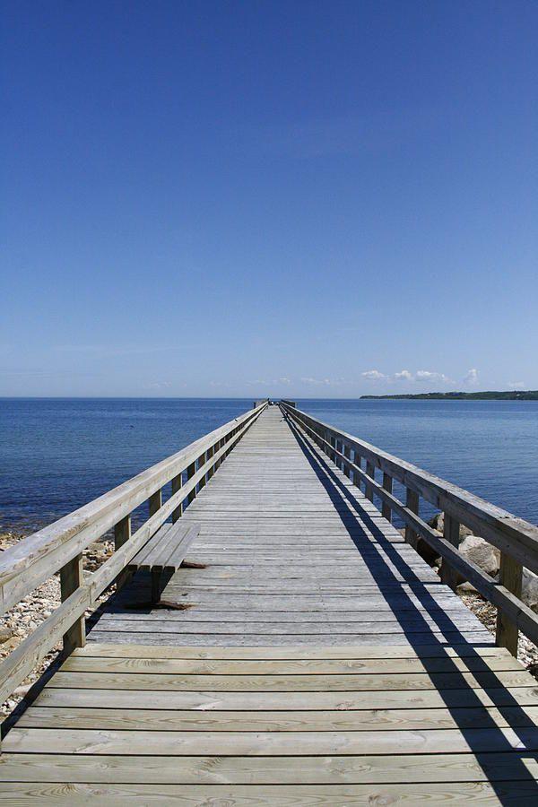 Pier On Fort Pond Bay Montauk By Christopher Kirby Montauk