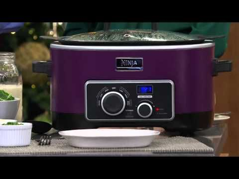 Ninja 4-in-1 6 qt. Multi-cooker w/Recipe Book & Travel Bag with Jill Bauer - YouTube
