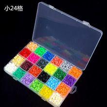 2400 unids encajonado 5 mm 24 color de hama perler perlas EVA niños niños DIY handmaking fusible del grano de inteligencia educativos juguetes artesanía(China (Mainland))
