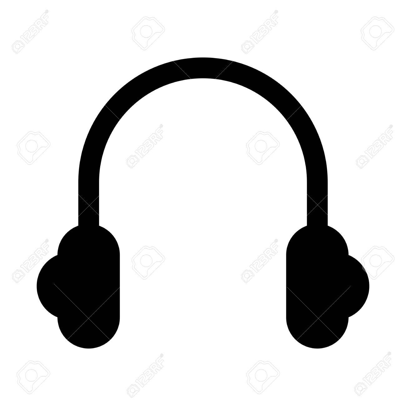 Stereo Headset Speaker Illustration On Plain Background