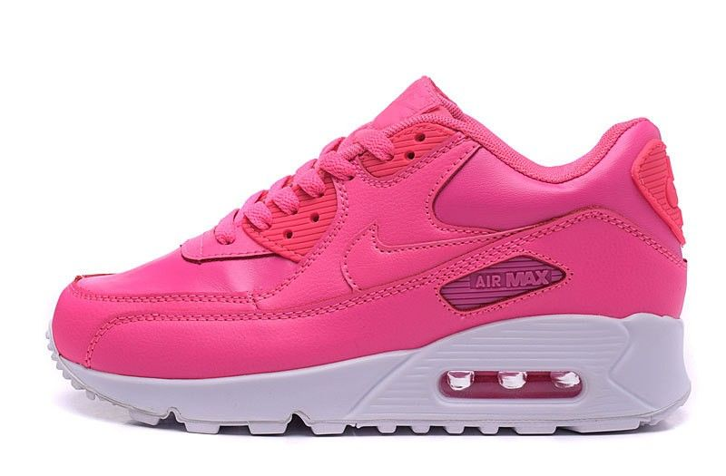 brand new 76faf 45dfb Nike Air Max 90 LTR Hyper GS 724852-600 Pink Snowflake   White Womans Sneakers  Shoes
