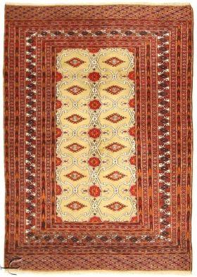 Central Asian Rug - Bokhara Carpet  Width123.00 cm (4,04 Feet) Lenght177.00 cm (5,81 Feet)