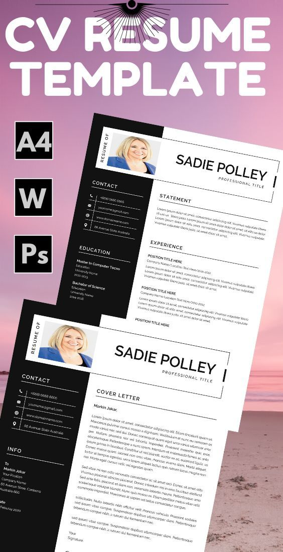 Пин на доске teaching resume template