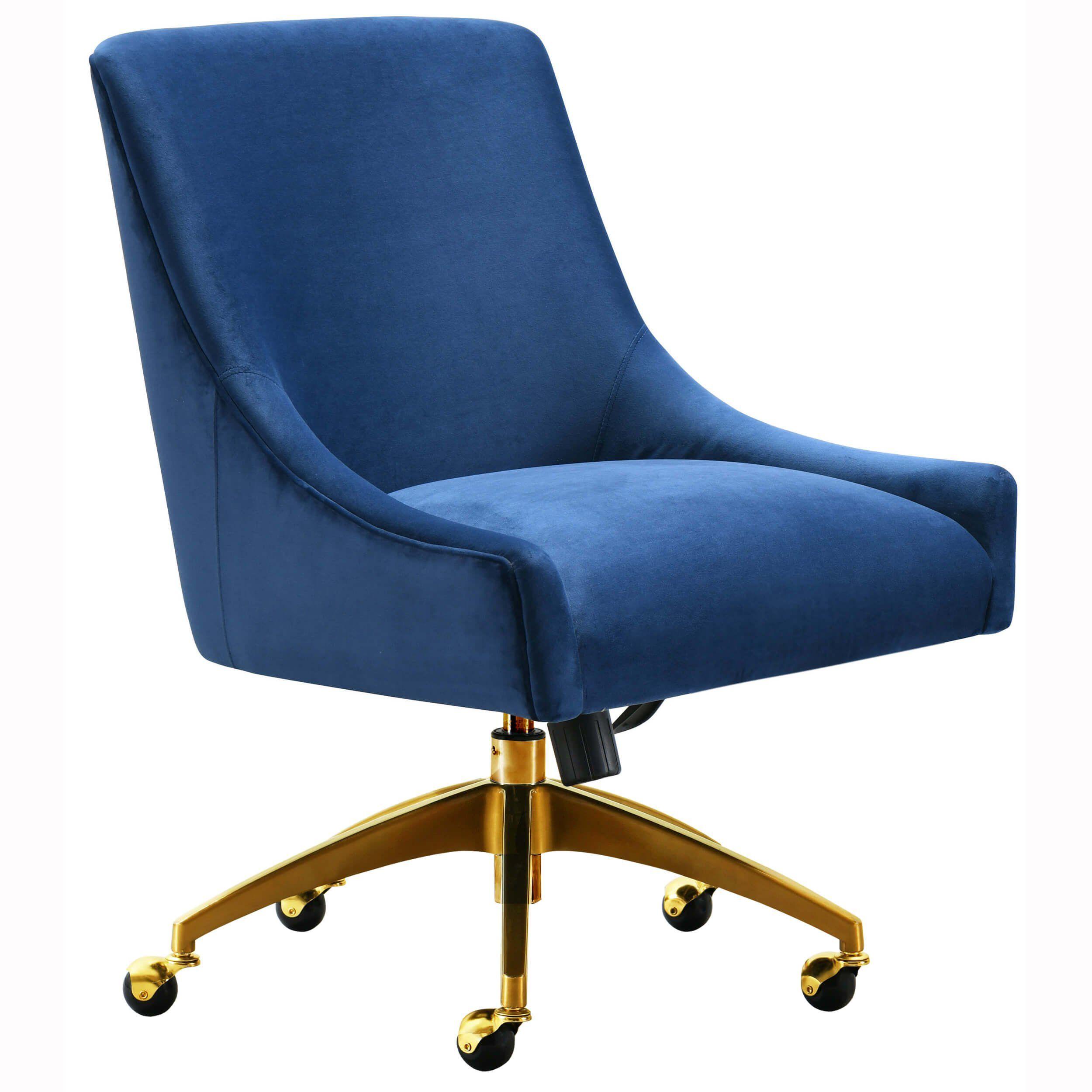 Beatrix Swivel Office Chair Navy Modern Office Chair Swivel