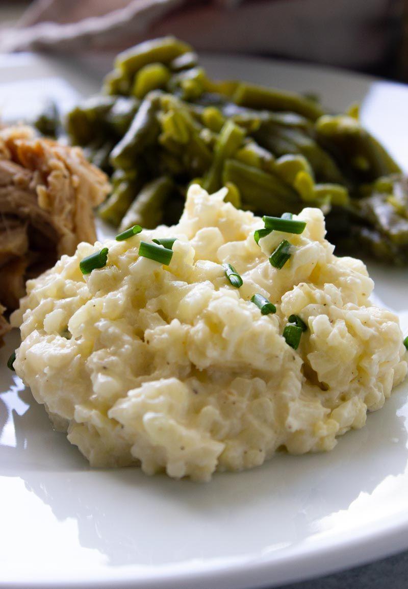 Creamy keto cauliflower rice recipe pork loin recipes