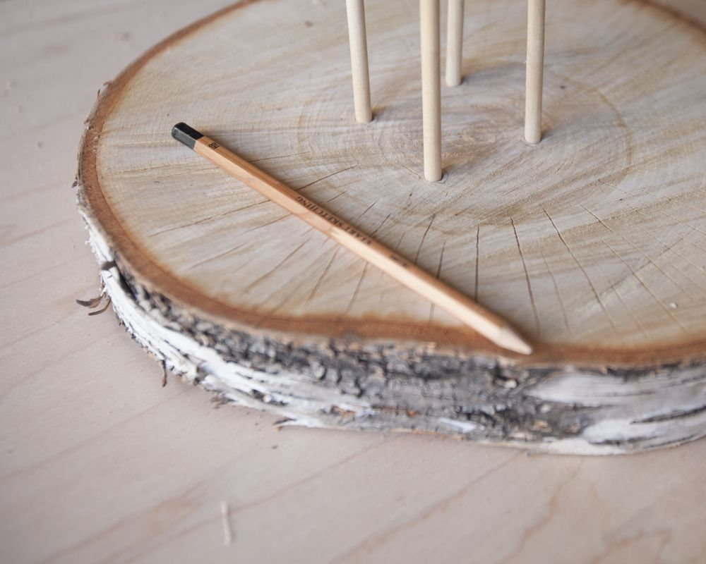 Diy floating birch cake stand cupcake stands birch and rustic