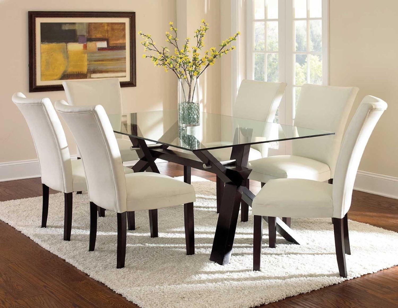 Steve Silver Berkley Glass Top Dining Table 5 Pc Set Be500 Impressive Steve Silver Dining Room Set Design Inspiration