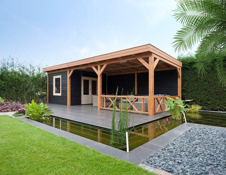 tuinhuis modern met veranda Google zoeken Tuin