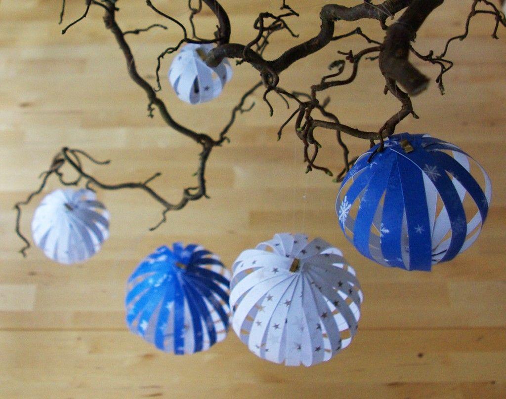 weihnachten weihnachts deko dekoration paperballs paper. Black Bedroom Furniture Sets. Home Design Ideas