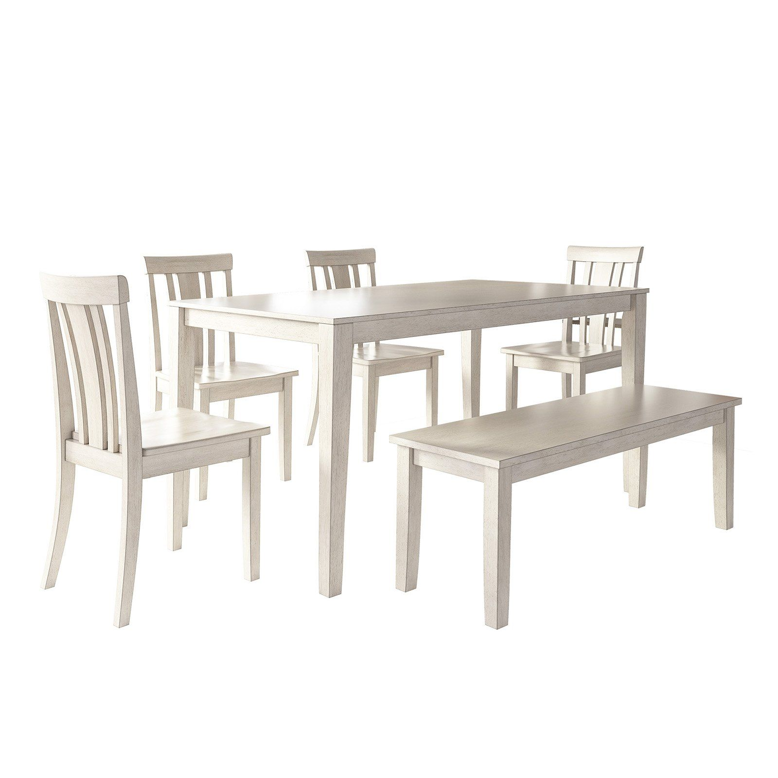 Admirable Weston Home Lexington 6 Piece Dining Set With Bench And Slat Beatyapartments Chair Design Images Beatyapartmentscom