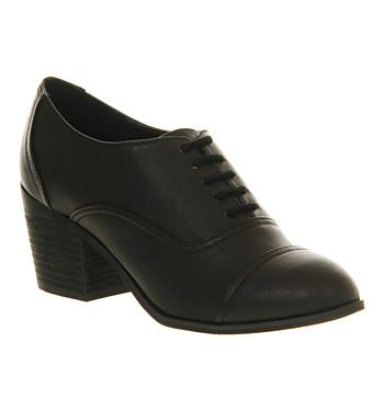 Office Line Up Lace Black - Mid Heels