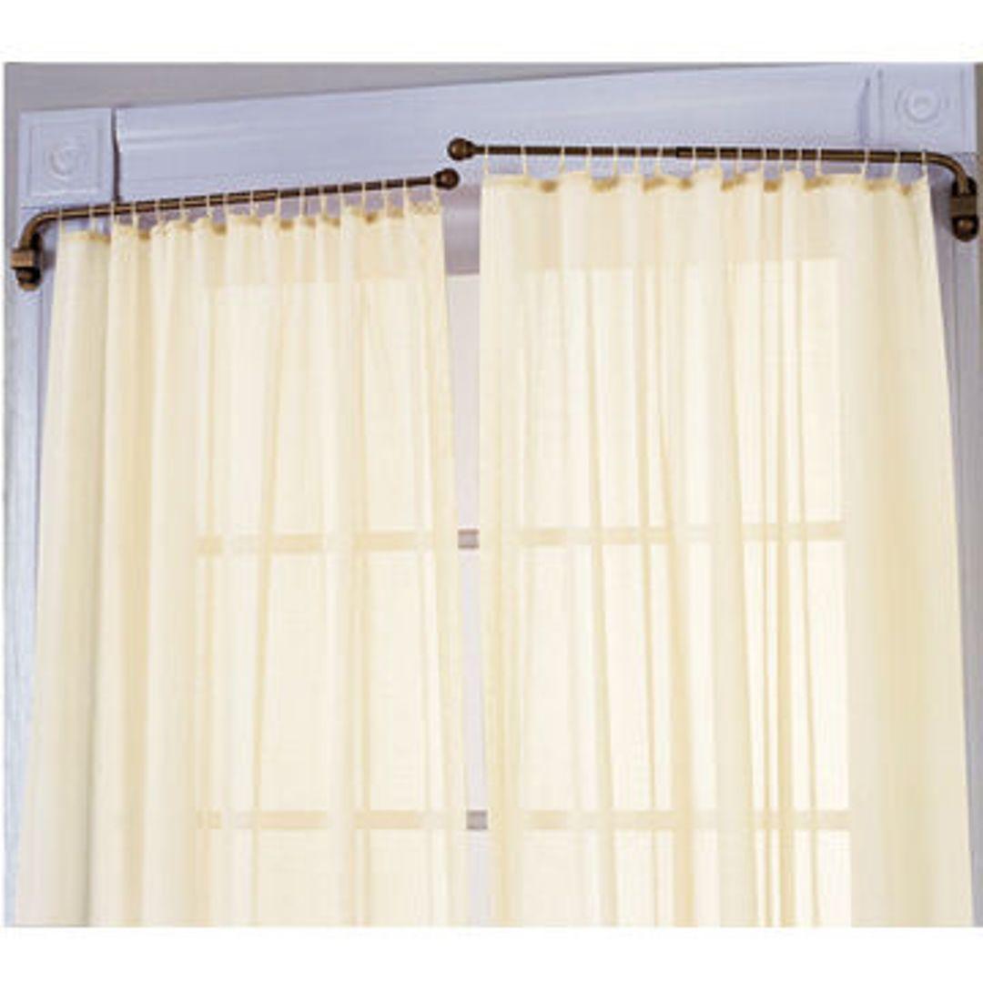 diy swing arm curtain rod