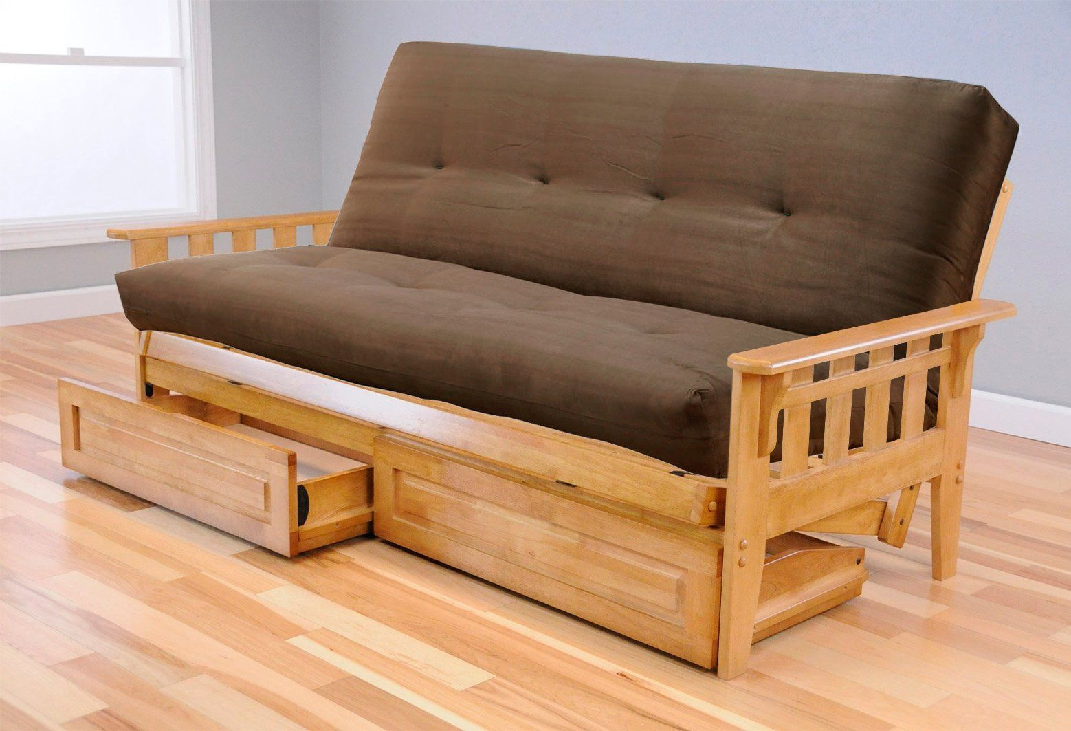 Full Austin Hardwood Futon Suede Olive Mattress Continue To The Product At Image Link This Is An Affiliate Pinterest