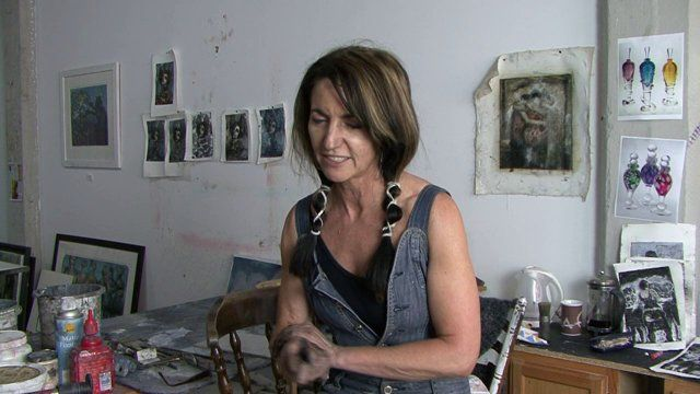 Artist Corinna Button from England now living in Chicago... about her Art