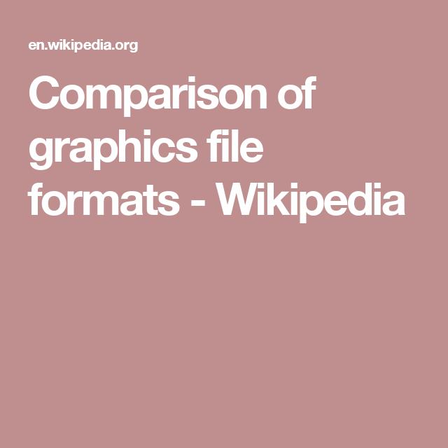 Comparison Of Graphics File Formats Wikipedia File Format