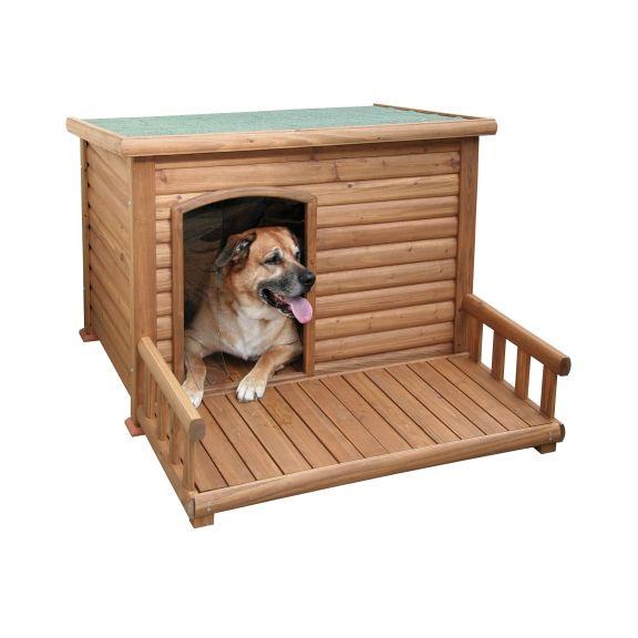 Niche chien avec terrasse retrouver sur for Niche exterieur chien