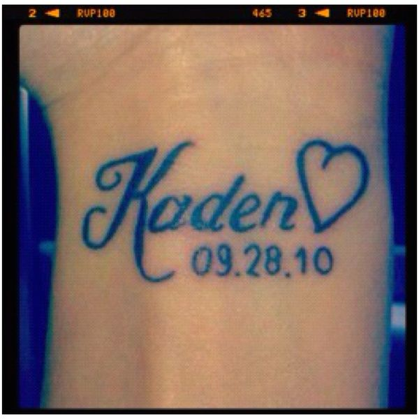 Baby Name Tattoo I Like This I Could Add A Heart Or