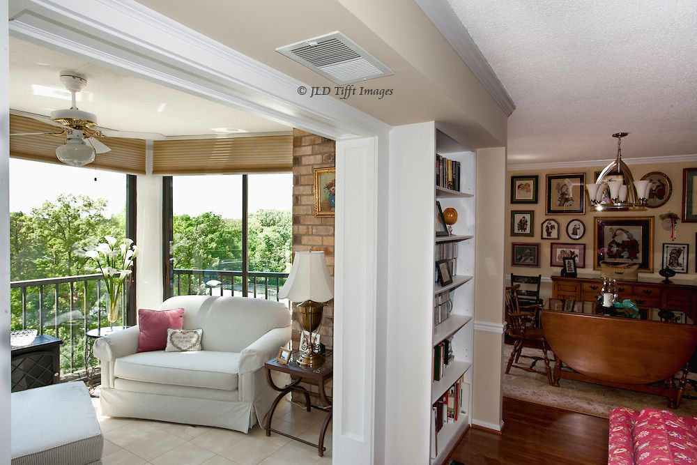 Exceptional Apartment Interior: Glassed In Balcony And Dining Area   JLD Tifft .