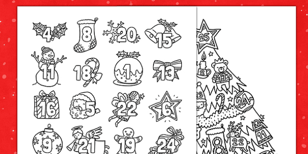 Christmas Mindfulness Colouring Advent Calendar Christmas Mindfulness Colouring Advent Advent Coloring Mindfulness Colouring Face Template