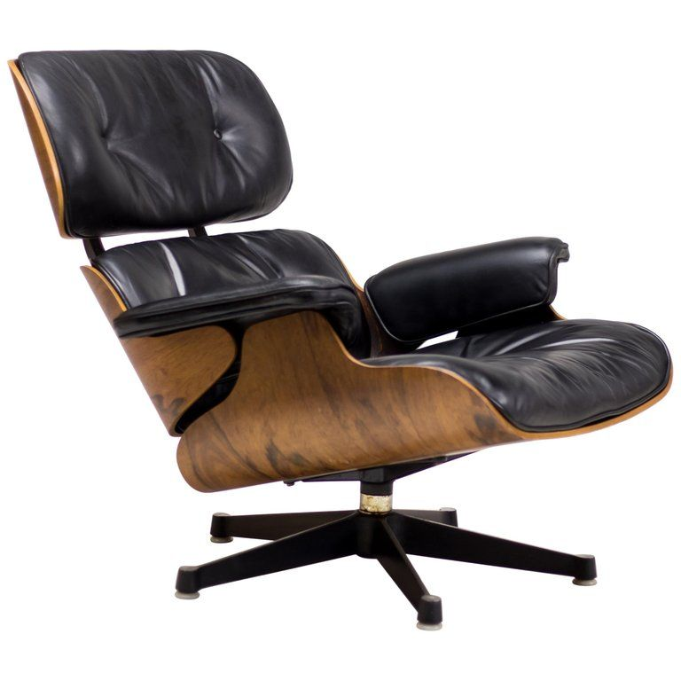 Charles And Ray Eames 670 Lounge Chair For Herman Miller Leather